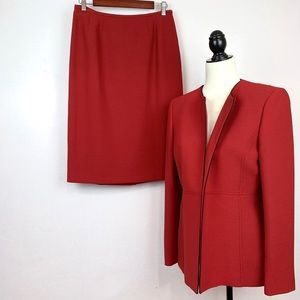 Kasper 2 Piece Suit Red Size 8